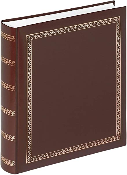 11.4 x 12.5 inch Brown 29 x 32 cm walther Design MX-101-P Das Schicke Dicke Artificial Leather Book Bound Album with Gold Embossing 100 White Pages