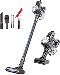 Dibea Upgrade Cordless Stick Vacuum Cleaner Lightweight 17KPa Powerful Suction Bagless Rechargeable 2 in 1 Handheld Car Vacuum with Mini Motorized Brush, Navy Blue D18Pro