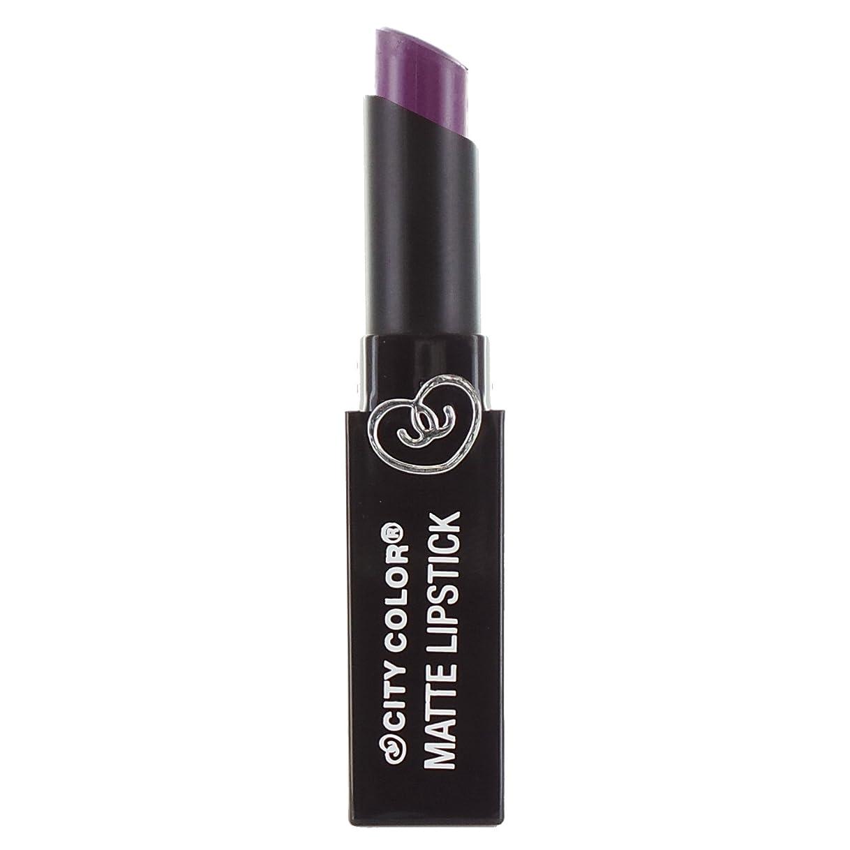 偏差反発する解き明かすCITY COLOR Matte Lipstick L0050 - Violet (並行輸入品)