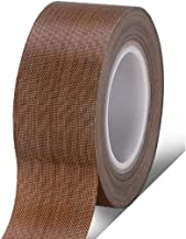 LIUDONGXIN Sealing Machine Heat-Resistant high Temperature Tape PTFE fire Insulation 300 Degrees Electric high Temperature 973 Anti-hot Tape (Color : Brown, Size : 0.18 thick13mm Wide)