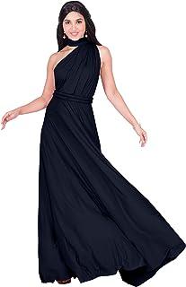 KOH KOH Womens Long Bridesmaid One Shoulder Convertible Wrap Cocktail Maxi  Dress a81b8f54f