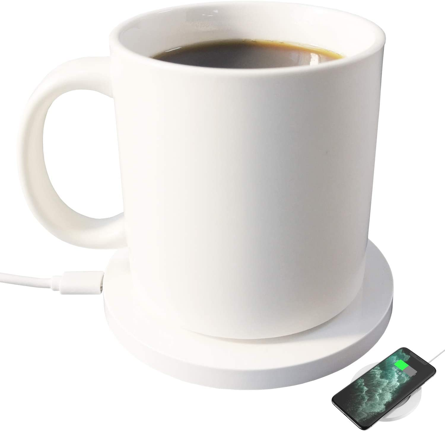 Soldering Wired Coffee Warmer self-heating mug A 12oz with beverage El Paso Mall