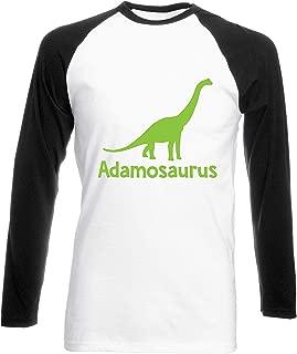 Julie Alcott Personalised Your Name osaurus Brachiosaurus Dinosaur Green Womens Long Sleeve Baseball Two Tone t-Shirt