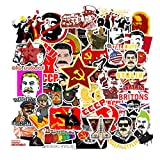 Russia Communist Party Laptop Stickers 50pcs, Cool Kids/Teen/Adut Vinyl Computer Waterproof Water Bottles Skateboard Luggage Decal Graffiti Patches Decal