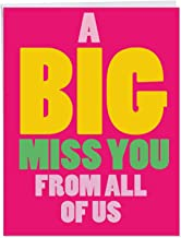 A Big Miss You - Loving Miss You Greeting Card with Envelope (Big 8.5 x 11 Inch) - Big, Bold Letters, Thinking of You Card from All of Us J2733MYG-US
