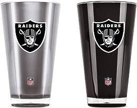 NFL Oakland Raiders 20oz Insulated Acrylic Tumbler Set of 2