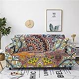 Funda Sofa 4 Plazas Chaise Longue Bohemia Fundas para Sofa con Diseño Universal,Cubre Sofa Ajustables,Fundas Sofa...