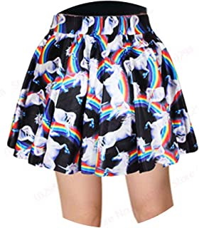 Geometric Miniskirts High Waist 3D Printed Black Short Skirts Cheerleading Sport Kilts
