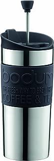 【正規品】 BODUM ボダム TRAVEL PRESS SET マグ用リッド付コーヒーメーカー 350ml ブラック K11067-01