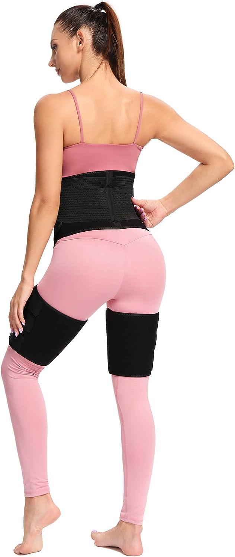Waist Thigh Trimmer Butt Lifter Body Shaper Strap Sweat Band for Workout FLYWIND 3-in-1 Waist Trainer for Women Home Exercise High Waist Enhancer Hip Lumbar Support