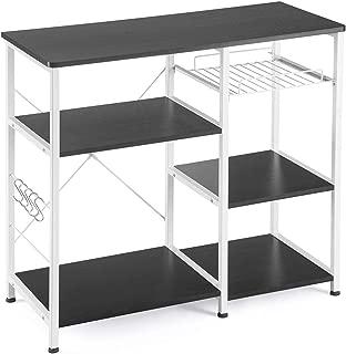 Mr IRONSTONE Kitchen Baker's Rack Utility Storage Shelf Microwave Stand 3-Tier+3-Tier Table for Spice Rack Organizer Workstation (35.5