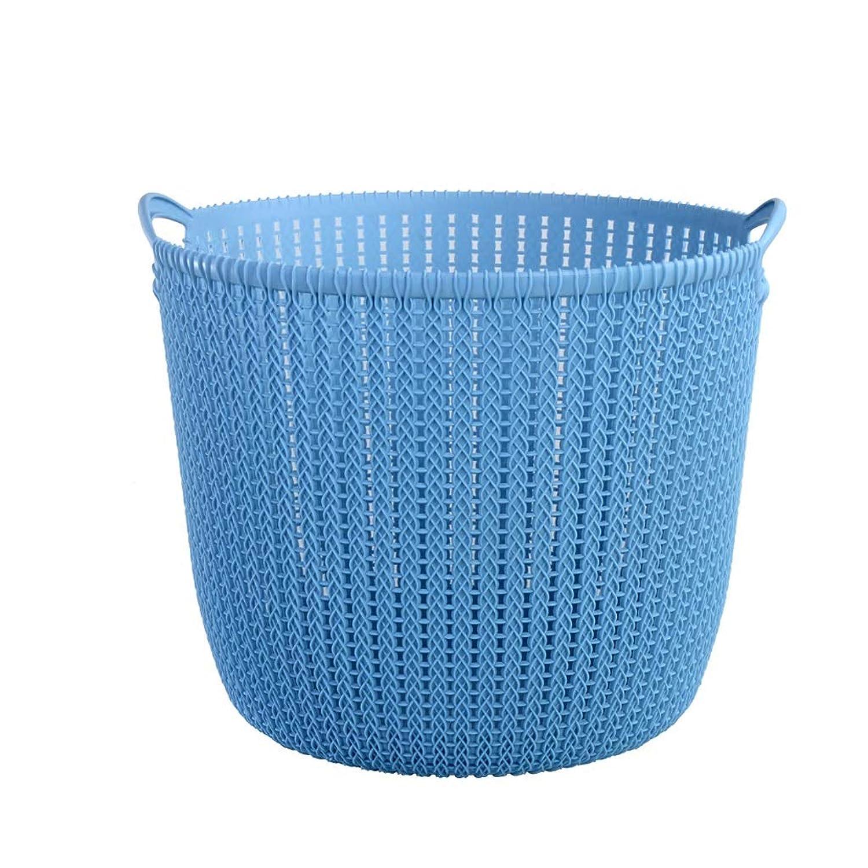 QYSZYG プラスチック収納バスケット、家庭用防具、便利なバスルーム、ブルーグレーピンク 収納バスケット (色 : 青, サイズ さいず : A)