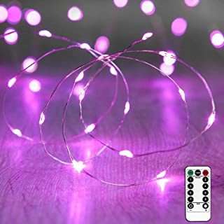 Cocoselected Warm White Fairy Lights Plug in,33ft 100 Micro LEDs String Lights Twinkle Lights Remote Control Teen Girls Be...
