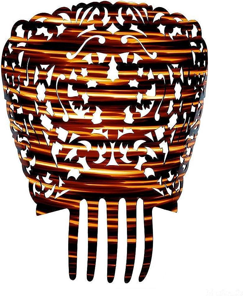 Desconocido Peineta para mantilla color concha, altura sin puas 195 mm