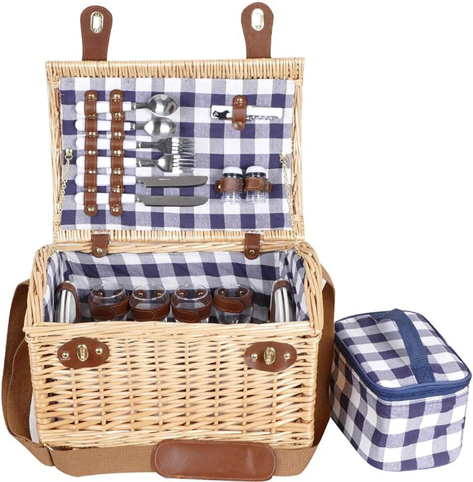 Picnic Bag Extra Large Willow with Basket Set Service Colorado Springs Mall for National uniform free shipping