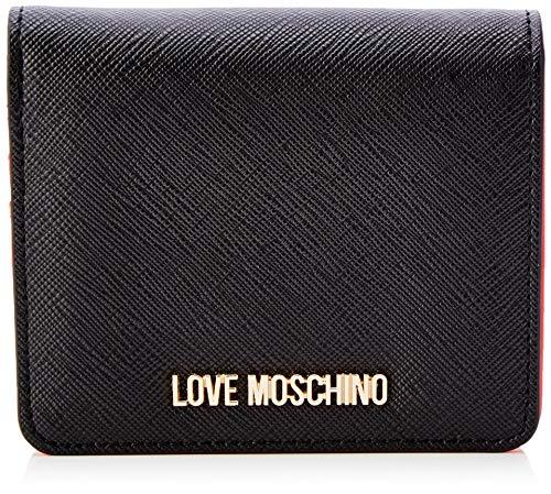 Love Moschino Jc5562pp1a, Portafoglio Donna, Nero (Nero), 2x10x11 cm (W x H x L)