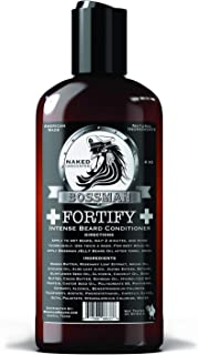 Bossman Fortify Intense Beard Conditioner to Grow, Thicken, Moisturize and Protect Your Beard (Naked)