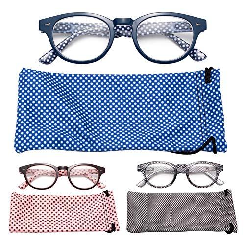 JIMMY ORANGE老眼鏡 曇り止め ブルーライトカット ケース付き メンズ レディース おしゃれ 携帯用 リーディンググラス 3712C9 度数+2.50