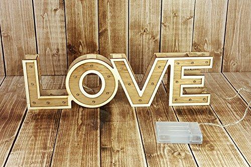 """LED Leuchtschrift """"LOVE"""" - 3"""