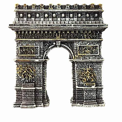 Aimant de réfrigérateur Arche de Triomph Paris France 3D Décoration de maison & Cuisine Sticker magnétique Arche de Triomph Paris France Aimant de réfrigérateur Voyage souvenir Cadeau