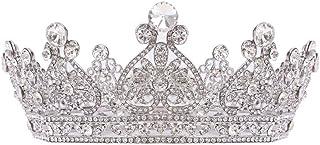 Corona Monili Di Cristallo Di Corona Circolare Piena D'argento Con Strass Bridal Tiara Fascia Spettacolo Di Promenade Dei ...