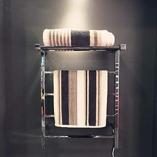 L.BAN Radiador Toallero Eléctrico Energía Eficiente Secadora Eléctrica para Toallas Antracita, Acero Inoxidable Acabado Pulido Espejo