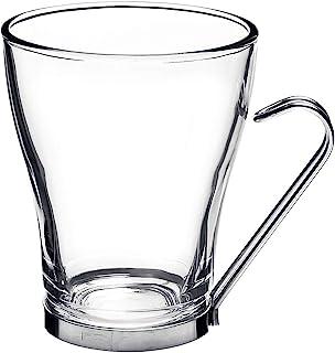 Bormioli Rocco Oslo Cappuccino Glass Cups, Clear, 8 Ounces (4 Pieces)