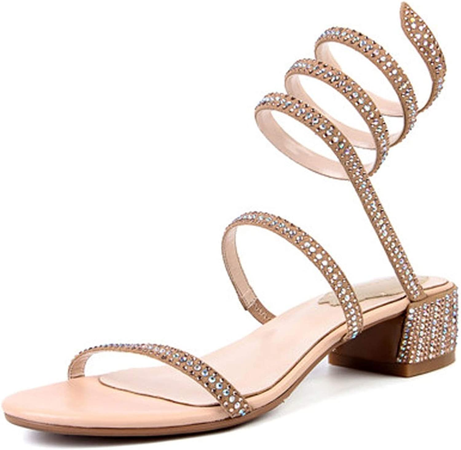 Suede Sandals Women Fashion Snake Strappie Sandals Summer Glitter shoes Sexy Ladies Sandal