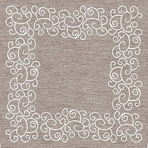 Mank Tischdecken aus Airlaid | Mitteldecken 80 x 80 cm Tischdecke für Gastronomie | 20 Stück | Flow (Champagner-Braun)
