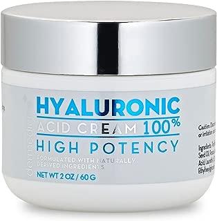 100% Hyaluronic Acid Cream Face w/ Jojoba Oil & Apricot Oil | Professional Grade Intense Hydration Keeps Skin Looking Plump & Feeling Moisturized | Improves Appearance of Skin Color & Tone