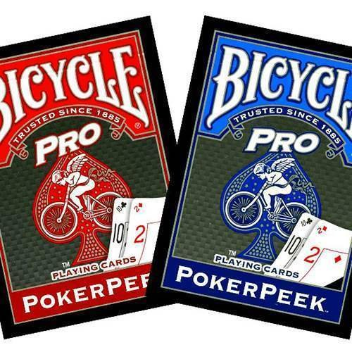 Mazzo di Carte Bicycle - Pro Poker Rider Back PokerPeek - dorso rosso - Mazzi Bicycle - Carte da gioco - Giochi di Prestigio e Magia
