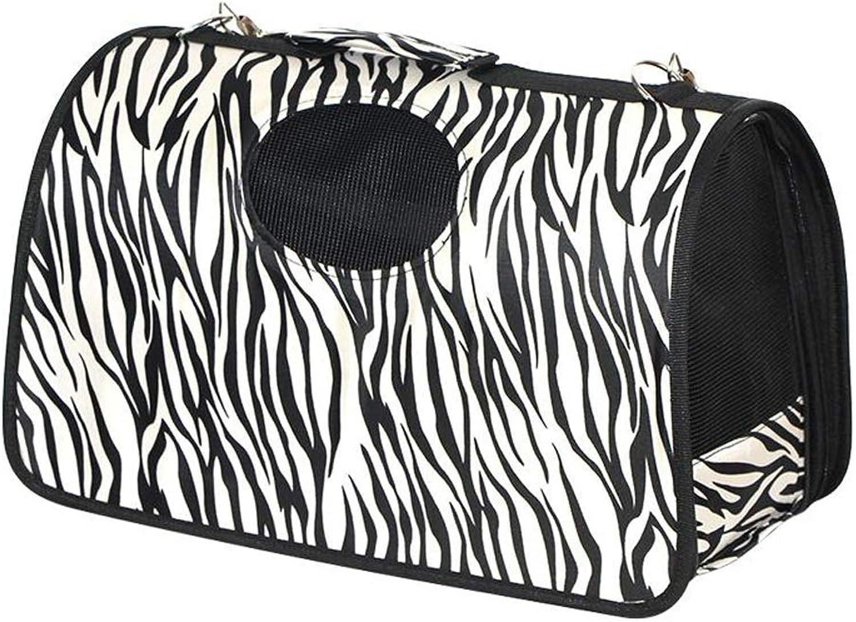 FJH Leopard Pet Bag Cat Out Travel Bag Small Dog Bag Cat Cat Cat Portable Bag (Size   S)