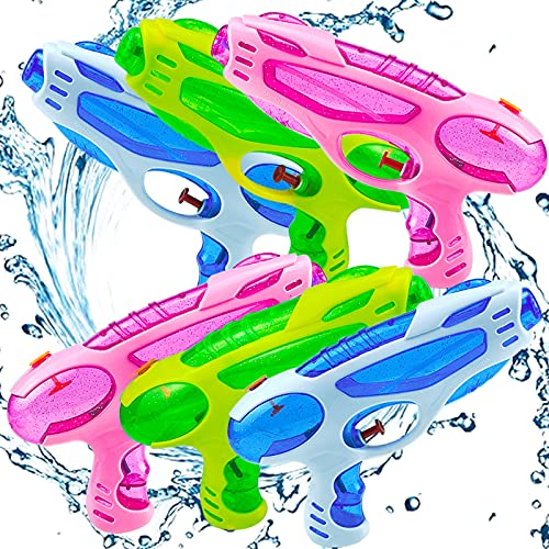 6 Pack Water Guns for Kids Adults Super Squirt Guns Water Pistol Toy for Boys Girls , 220CC Water Gun for Summer Party Outdoor Activties Swimming Pool Beach Sand Water Toys Water Fighting Play Toys