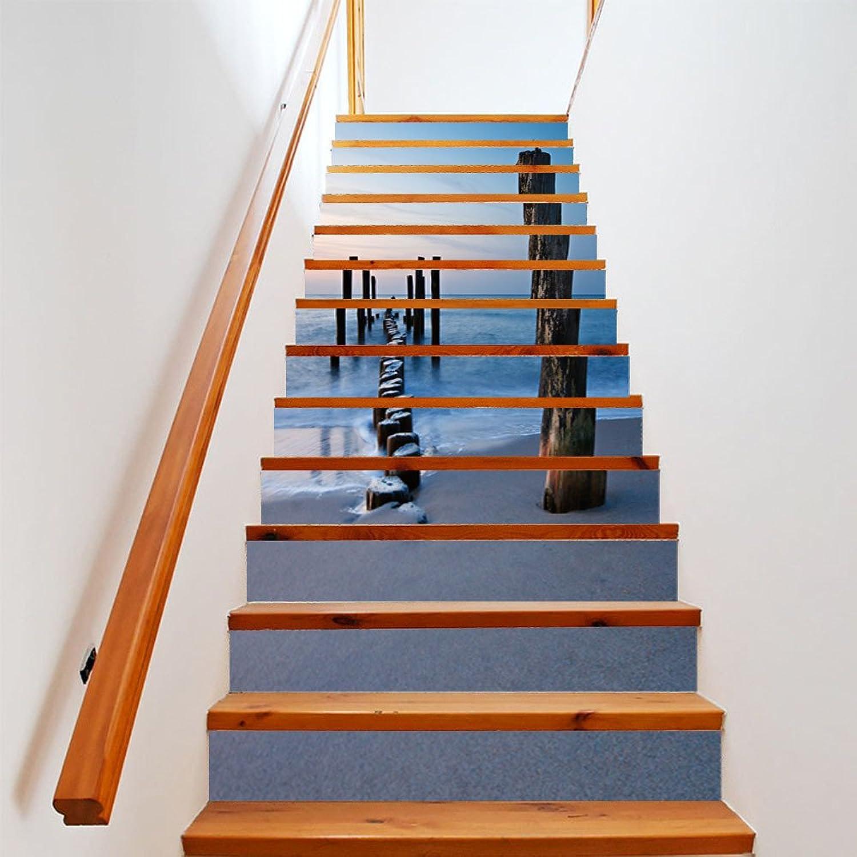 tienda @Ammwzl-Hogar Europeo Living Escaleras Pegatinas Pegatinas Pegatinas Diy Renovación Paso Antideslizante Adhesivo Parojo Luz Mar,100Cm18Cm13Pcs  promociones