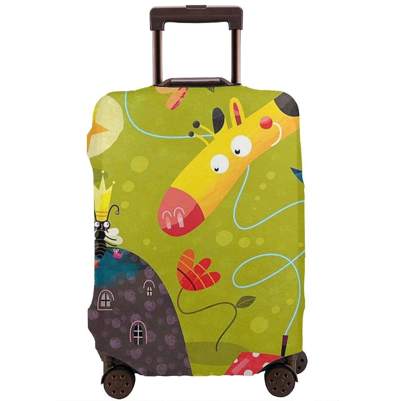 すずめ切り刻むスイング動物の国度 スーツケースカバー 伸縮弾性素材 スーツケース保護カバー ラゲッジカバー 通気性 傷防止 防塵カバー S-XL