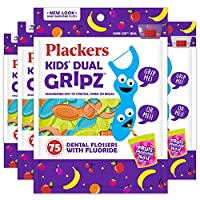 Plackers Flossers for Kids - 75 flossers - Pack of 4 by Plackers