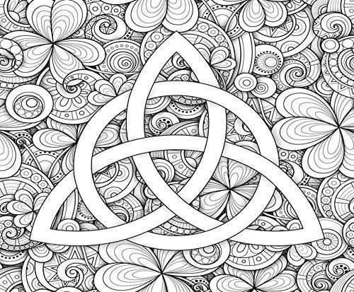 DIY 5D Diamond Painting Kit Celtic Trinity Knot Symbol Triquetra Sign Coloring Book Adult Amulet 12' X 16' Adult Children Full Drill Rhinestone Cross Stitch Art Crafts for Home Decoration