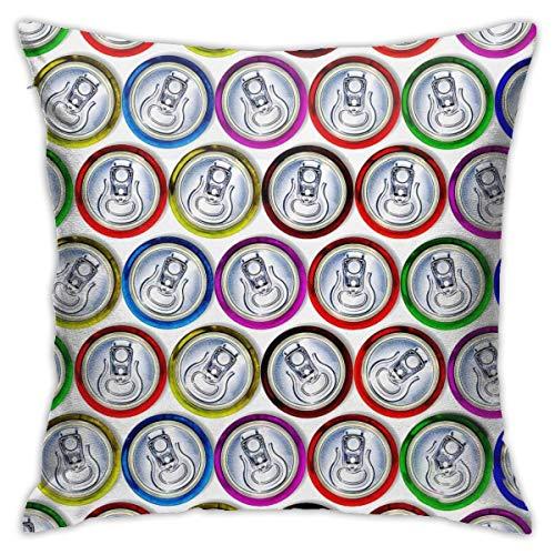 qinzuisp Kussensloop met ritssluiting, katoenen kussenslopen, voor woonkamer, slaapkamer, zacht, vierkant, decoratief met zachte aanraking, 18x18 inch