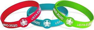 Euro 2020 Unisex Jeugd Armband, Turquoise/Groen/Roze, One Size