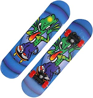 Mini Complete Skateboard-Beginner Skateboard 23.6 Inch Anime Alien Pattern Children Skateboard Suitable for Children Over 3 Years Old