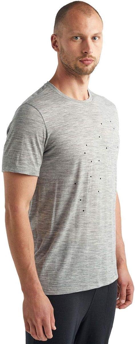 icebreaker Herren Tech Lite Tour du Mont Blanc T-Shirt Merino-Shirt