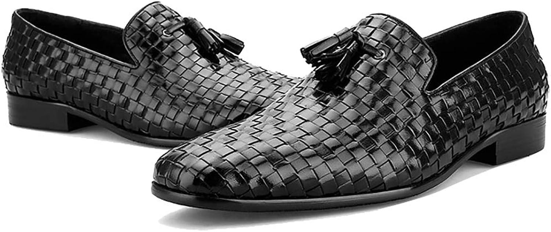 Skor Skor Skor för män och män Klassiska smarta affärsskor Formala klädskor Fotkläder med Handstympade Weave Leather Slip -On Tillfälliga Skor  billigt online