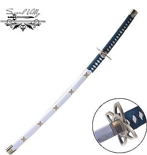 Sword Valley Japanese Katana Samurai Swords, Anime Tashigi Sword, Carbon Steel Blade, Wooden Handguards