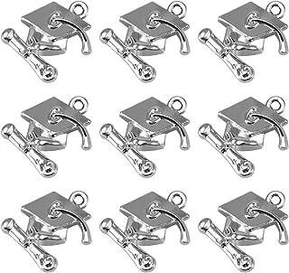 BESTOYARD Graduation Charms Pendant Graduation Cap with Diploma Pendants Gifts for Charm Bracelets Chain Necklace Craft 100PCS