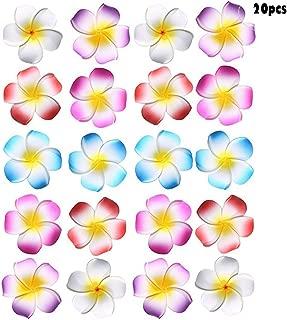 20PCS Sc0nni Hawaiian Foam Flowers Hair Clips Bridal Hair Clips For Wedding Luau Party Beach Wear Poolside Wear Favor Event Decoration(Stylish Classic 5 cm, red,blue,pink,purple,white)