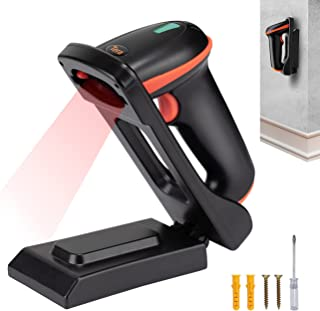 Tera 2D QR Barcode Scanner USB with Adjustable Folding Stand and Charging Cradle, Wall Mountable 2.4G Wireless&USB 2.0 Wir...