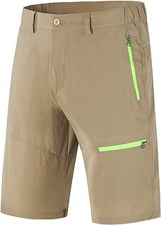 LOHASCASA Men's Outdoor Sports Quick Dry Elastic Waist Work Shorts
