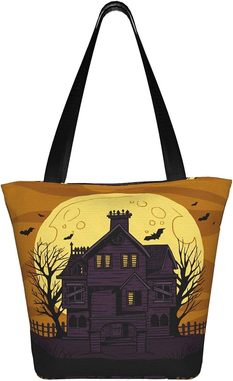 Large Tote Bag Canvas Hobo Bag Daily Work Shoulder Handbag (Retro Hummingbird Birds Red Gold Flowers Spring)