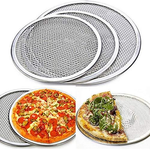 Bandeja Para Pizza,Plato De Pizza Herramientas Bandeja de horno nuevo 6inch-14inch sin fisuras de aluminio pizza Pantalla red del metal for hornear pizza de cocina (Color : 14inch)