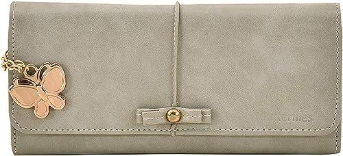Women Textured Wallet Grey BNS 2443GY